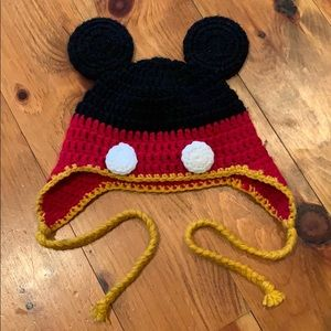 Custom Mickey Mouse knit hat